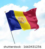 national flag of andorra raised ... | Shutterstock . vector #1663431256