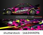 car graphic background vector....   Shutterstock .eps vector #1663444096