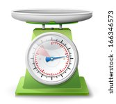 weight scale on white... | Shutterstock .eps vector #166346573