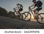 Mountainbike   Two Bikers By...