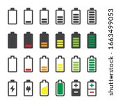 battery icon set. charge level...   Shutterstock .eps vector #1663499053