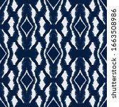 jeans shibori stripe vector... | Shutterstock .eps vector #1663508986