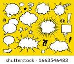 comic book text speech bubble... | Shutterstock .eps vector #1663546483