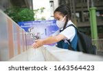 Asian Student  Washing Hands A...