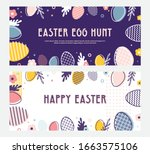abstract banner template for... | Shutterstock .eps vector #1663575106
