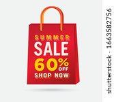 vector summer sale bag template ...   Shutterstock .eps vector #1663582756