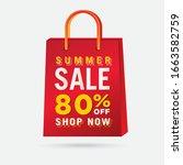 vector summer sale bag template ...   Shutterstock .eps vector #1663582759
