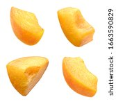 Slices Of Apricot Isolated On...