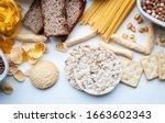 gluten free set. gluten free...   Shutterstock . vector #1663602343