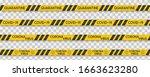 coronavirus caution tape danger ... | Shutterstock .eps vector #1663623280