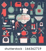 kitchen icon set | Shutterstock .eps vector #166362719
