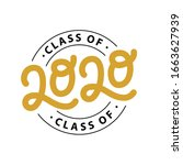 graduate 2020. class of 2020.... | Shutterstock .eps vector #1663627939