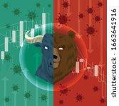 stock markets plunge from novel ... | Shutterstock .eps vector #1663641916