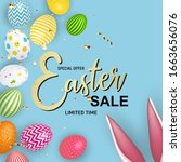 abstract easter sale template...   Shutterstock . vector #1663656076