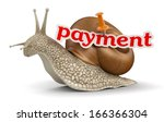 payment snail  clipping path... | Shutterstock . vector #166366304