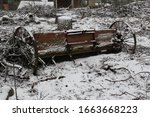 Old Abandoned Wooden Planter On ...