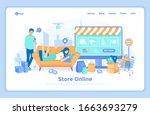 online store shop. internet... | Shutterstock .eps vector #1663693279