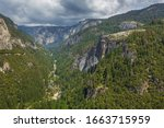 View Of The Yosemite Valley In...
