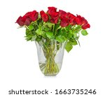 Bouquet Of Red Long Stem Roses...