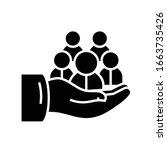 team support black icon ...   Shutterstock .eps vector #1663735426