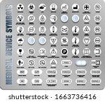 full set of medical device... | Shutterstock .eps vector #1663736416