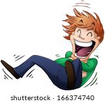 a vector illustration of a guy... | Shutterstock .eps vector #166374740
