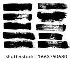 vector brush stroke. grunge... | Shutterstock .eps vector #1663790680