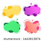 set of abstract modern graphic...   Shutterstock .eps vector #1663813876