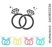 bride and groom rings multi...