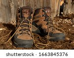 A Pair Of Leather Hiking Boots...