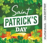 st. patrick's day card.... | Shutterstock .eps vector #1663859989