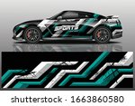 sports car wrapping decal design   Shutterstock .eps vector #1663860580