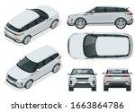 off road write car modern vip... | Shutterstock . vector #1663864786