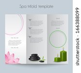 beauty spa   salon tri fold... | Shutterstock .eps vector #166388099