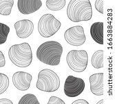 seamless seashell pattern in... | Shutterstock .eps vector #1663884283