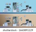 doctor's office in the hospital....   Shutterstock .eps vector #1663891129