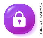 padlock icon. protection symbol.... | Shutterstock .eps vector #1663891756
