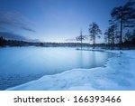 Sweden Landscape Winter Lake