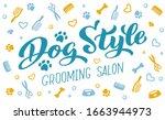 dog style lettering for...   Shutterstock .eps vector #1663944973