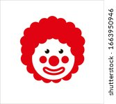 Funny Clown With Red Hair Wig....