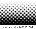 monochrome dots background.... | Shutterstock .eps vector #1663951309
