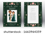 save the date.cute indian bride ...   Shutterstock .eps vector #1663964359