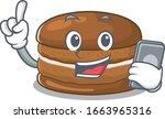 Chocolate Macaron Cartoon...