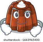cool chocolate pudding mascot... | Shutterstock .eps vector #1663965400