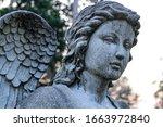 Graveyard Stone Angel Statue...