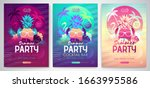 set of colorful summer disco...   Shutterstock .eps vector #1663995586
