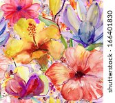 abstract watercolor hand...   Shutterstock . vector #166401830