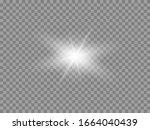 vector glowing light effect.... | Shutterstock .eps vector #1664040439