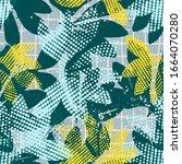 modern abstract jungle seamless ...   Shutterstock .eps vector #1664070280
