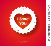 happy valentines day card... | Shutterstock .eps vector #166407404